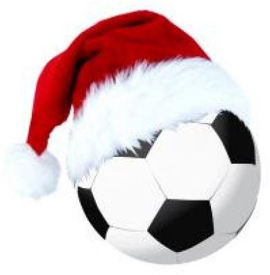 Frohe weihnachten und ein gutes neues jahr fussball